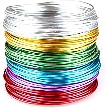 "Creacraft Alambre de Aluminio Artístico para Bisutería ""basic"" - 30m, rollos a 5 metros de varios colores … (2mm)"