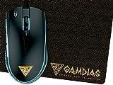 GAMDIAS Optische Gaming Maus mit 3200 DPI, 6 Smart Tasten und Doppelte RGB-Streaming-Beleuchtung (ZEUS E1)