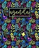 Agenda: 2018 Agenda semana vista español : 190 x 235 mm, 160 g/m² : Estampado floral arcoíris en acuarela: Volume 9 (Calendarios, agendas y organizadores personales)