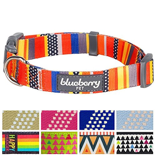Blueberry Pet Hundehalsband Seefahrtsflaggen Inspiriert Designer 2 cm M Basic Polyester Nylon Hundehalsband, Passender Hundeleinen erhältlich separate