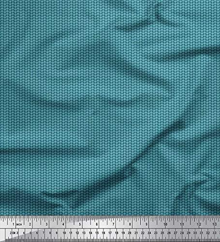 Soimoi Blau Satin Seide Stoff Tasten Hemdenstoff Stoff drucken Meter 42 Zoll breit