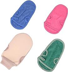Premium Peeling Handschuh ,Peelinghandschuh, Peeling-Handschuhaus Bambus Premium Wellness Handschuh Hochwertige Verarbeitung - Für Körperpeeling / Massage/ Sauna/strahlende Haut/beugt Unreinheiten vor/auch