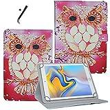Tablet Hülle 10.1 Zoll für Blaupunkt Endeavour 101G Schutzhülle Etui Case mit Touch Pen und Standfunktion - Eule 2