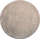 Grund Badteppich 32 mm 100% Polyacryl, Ultra Soft, Rutschfest, ÖKO-TE?-Zertifiziert, 5 Jahre Garantie, LEX, Badematte 100 cm rund, Taupe