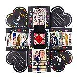 Aparty4u DIY Explosion Box Geburtstag Klein Scrapbook Album mit Tutorial und DIY Zubehör Kit, Explosion Foto Album Box für Jahrestag Verlobung Hochzeit Geschenke