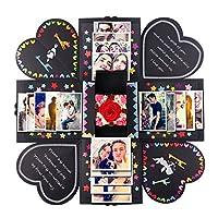 Lista di imballaggio: 1x DIY esplosione scatola istruzioni 1x DIY scatola esplosione: un regalo che si può muovere il tuo amante 1x piccolo regalo: puoi usarlo per il piccolo regalo come una sorpresa 11x carte divertenti: è possibile per...