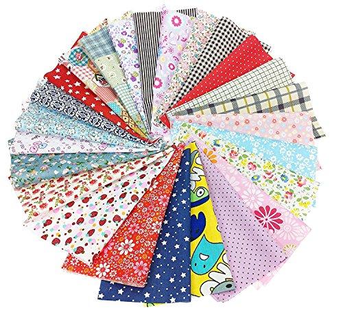 25 pz tessuti stampato cotone tessuti e stoffe a metro cotone tessuti stoffe per patchwork scampoli stoffa fatansia per cucito creativo 20cmx20cm