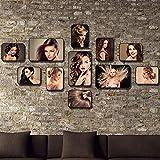 Unbekannt [Loves] pcs Schwarz Bilderrahmen Set Weinlese-Friseursalon-Foto-Wand-Friseursalon- / Friseur-Wand-Dekoration 11 Fotorahmen-Kombinations-Hintergrund-Wand (Farbe : A)