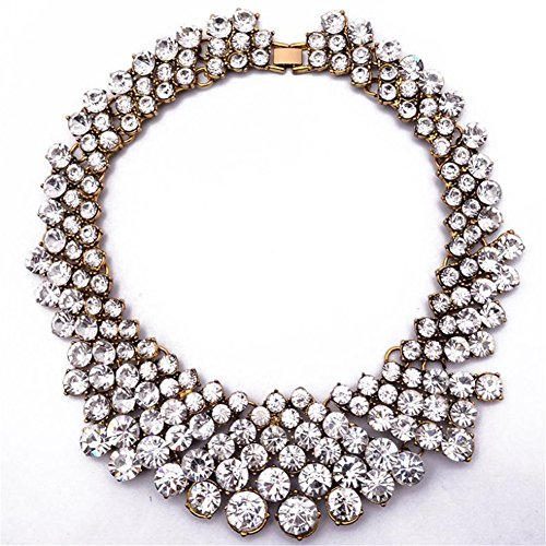 twopages-pearl-white-beaded-choker-statement-necklace-jewelry-gift-for-women