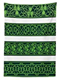 Best Green Forest Dining Tables - Yeuss Irish Tablecloth, Shamrock Borders Gaelic Nature Botany Review