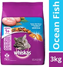 Whiskas Dry Cat Food, Ocean Fish for Adult cats, 3 kg