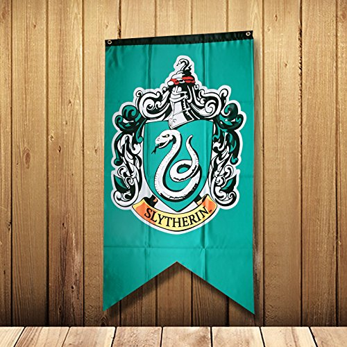 Slytherin College Banner Flag Deko Flag Harry Potter Geschenk 125 * 75cm
