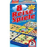 Schmidt-Spiele-49102-8-Reise-Spiele-magnetisch Schmidt Spiele 49102 – 8 Reise-Spiele, Spielesammlung, magnetisch, bunt -