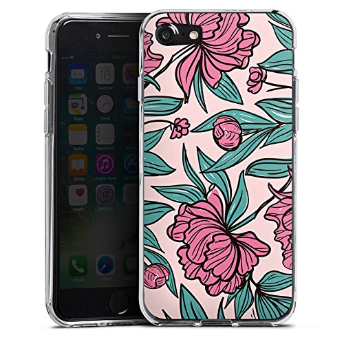 Apple iPhone X Silikon Hülle Case Schutzhülle Boho Blumen Sommer Silikon Case transparent