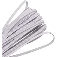 30M//Bianco Fascia Elastica per Maglieria ZAKASA 3mm Elastico per Cucito creazione di Arte e Artigianato Cordino Elastico Rotondo