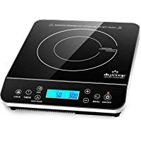 Duxtop Plaque à Induction, Plaque Cuisson Portable, plaque de cuisson à commande tactile avec capteur 2100W, affichage…