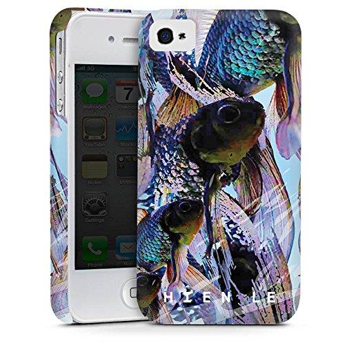 Apple iPhone 5s Housse Étui Protection Coque HIEN LE Fashionweek Poissons Cas Premium mat