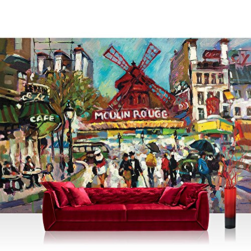 Vlies Fototapete 400x280 cm PREMIUM PLUS Wand Foto Tapete Wand Bild Vliestapete - Gemälde Tapete...