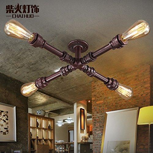 SDKKY Tubo industriale parete soffitto lampada luce retrò Cafe Loft