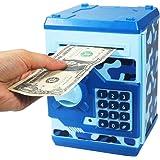 HUSAN Hucha electrónica para niños con código electrónico de cerditos, Mini cajero electrónico para Monedas ATM, Caja de Mone