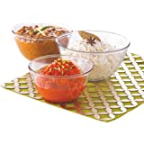 Borosil Glass Mixing Bowl - Set of 3 (500 ML + 900 ML + 1.3L) Oven and Microwave Safe