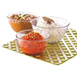 Borosil Glass Mixing Bowl Set, 3-Pieces,Transparent, 500 ML, 900 ML, 1.3L