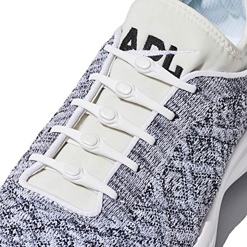Hickies 2.0 Performance flexibles Schnürsystem, Einheitsgröße, ohne Schuhe binden - weiß (für alle Schuhe geeignet)