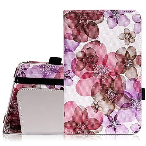 MoKo Tab E lite 7.0 Hülle Case - Kunstleder Ständer Tasche Schutzhülle Schale Smart Cover mit Stift-Schleife/Standfunktion für Samsung Galaxy Tab E lite / Tab 3 Lite 7.0