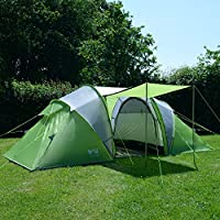 trail 4 man family tunnel tent with awning camping festival waterproof 3000mm hh
