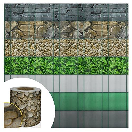Casa Pura® Sichtschutz für Zaun, Rolle, ideal zum Schutz der Privatsphäre | Sichtschutz, PVC, robust | Schutz gegen Wind/Sonne | 7Farben wählbar | 19°x°35°m, beige