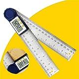 جهاز قياس زاويا رقمي من فيست نايت 2 في 1، مستوى الة قياس 200 ملم متعددة الوظائف مسطرة للأعمال الخشبية 0-200 زاوية عرض رقمية