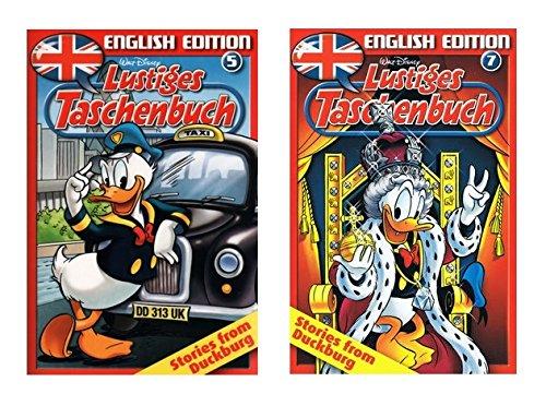 Lustiges Taschenbuch - English Edition - Band Nr. 5 + 7 - Stories from Duckburg - Beide Bücher zusammen! - Englisch LTB &