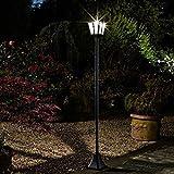 Garden Mile groß 1.8m M Zwilling Viktorianisch Laternenpfahl Laterne Solarlampen LED Lichter Solarlampen Dekoration Lichter traditionell Außen Garten Beleuchtung
