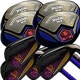 wazaki Japan WL-IIs 4-SW Combo Hybrid Ferri USGA R A Rules Set Mazze da Golf + copritesta (Regular Flex, PRO Graphite Shaft, Mano Destra, Edizione Limitata, Confezione da 16