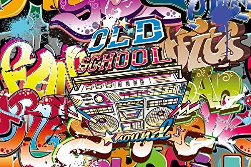 BuEnn Hintergrundbild der Old School Party Hip Hop Fotografie Kulissen der 80er Jahre Requisiten für Studio Vinly 7X5 BuEnn-dn038