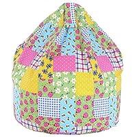Cotton Patchwork Ladybird Bean Bag Large Size
