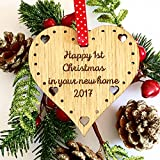 1ST CHRISTMAS FIRST XMAS TREE DECORATION NEW HOME HOUSE 01CD