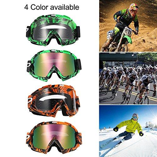 kkmoon Sonnenbrille Moto Außerhalb Route, Sonnenbrille Match Außerhalb Straße in farbigen Gläsern transparent für Schutz der Augen (orange)