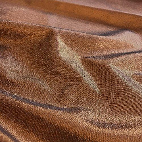 Uni Rückseite schwarz/kupfer uni Lame Kleid, Kostüm, Craft Stoff, 147,3cm 147cm Breite–Meterware (Lame Kostüme)