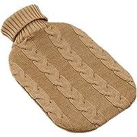 Wärmflasche mit Bezug aus extrafeiner Merinowolle im Zopfmuster camelbraun/Made in Germany preisvergleich bei billige-tabletten.eu