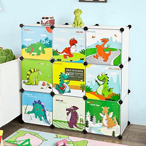 SoBuy® DIY Regal,Kinderregal, Kinderschrank, Kleiderschrank, Steckregalsystem, FSS49