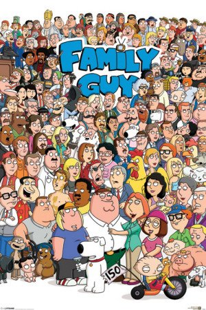 maxi-poster-featuring-the-hilarious-american-cartoon-series-family-guy-character-collage-61x915cm