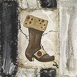 Artland Qualitätsbilder I Poster Kunstdruck Bilder 70 x 70 cm Menschen Mode Malerei Schwarz Weiß A9QG Frauenstiefel