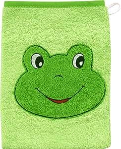 WÖRNER Le gant de toilette grenouille gant de toilette bébé, vert