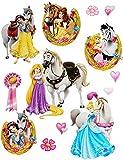 Unbekannt 13 TLG. Set _ XL Wandtattoo / Sticker -  Disney Princess - Prinzessin  - Wandsticker - Aufkleber für Kinderzimmer - selbstklebend + wiederverwendbar - Mädch..