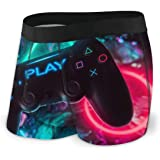 LAOLUCKY Play Video Game Controller Videogames Boxer Briefs Underpants Underwear Boxer Shorts for Mens Boys