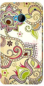 PRINTVISA Pattern Abstract Floral Case Cover for HTC One M7
