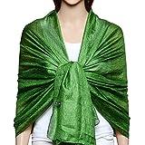 QBSM Chiffon Stola Schal für Brautkleider Abendkleider Alltagskleidung Grün