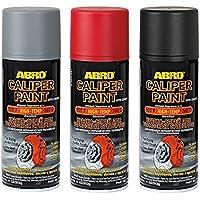 Abro Bombe de peinture pour étrier de frein Noir brillant Aérosol rigide Finition résistante 400ml