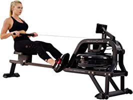 Sunny Health & Fitness Unisex Adult SF-RW5713 Obsidian Surge 500 M Water Rowing Machine - Black, One Size